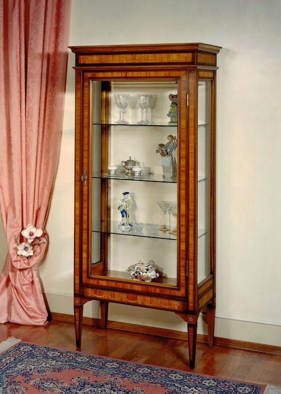 Vetrina intarsiata Stile Luigi XVI Mod. GIORDANIA