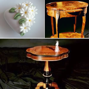 Inlaid coffee tables wedding list