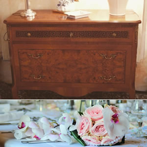 Inlaid chest of drawers wedding list