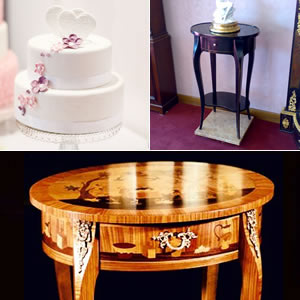 Inlaid coffee tables wedding gift