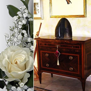 Inlaid commode wedding list